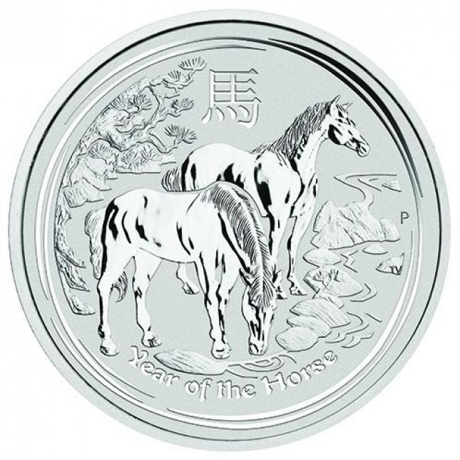 2014 Australia Silver Year of the Horse 10 Oz (BU)