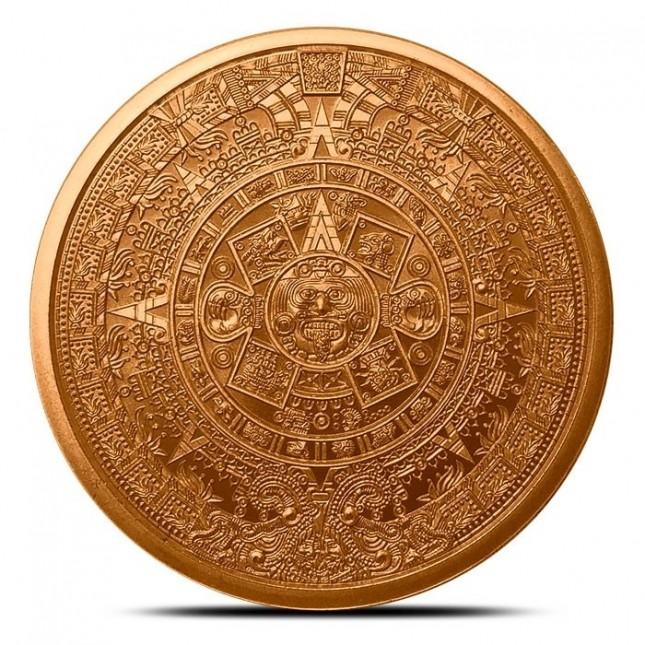 1 oz Copper Round | Aztec Calendar