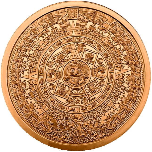 2 oz Copper Round | Aztec Calendar