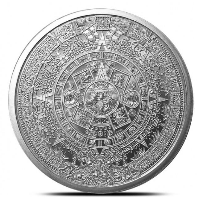 1 oz Silver Round | Aztec Calendar (BU)
