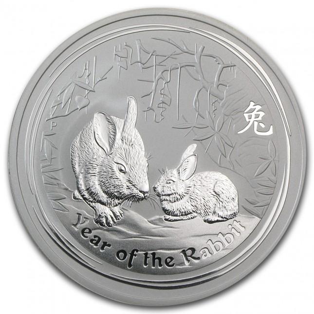 2011 Australia 2 Oz Silver Rabbit BU