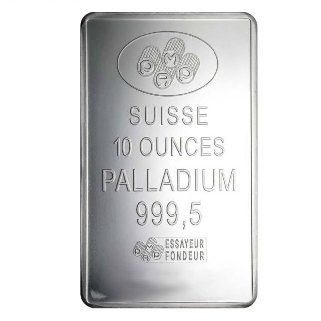 10 oz PAMP Suisse Palladium Bar (w/ Assay)
