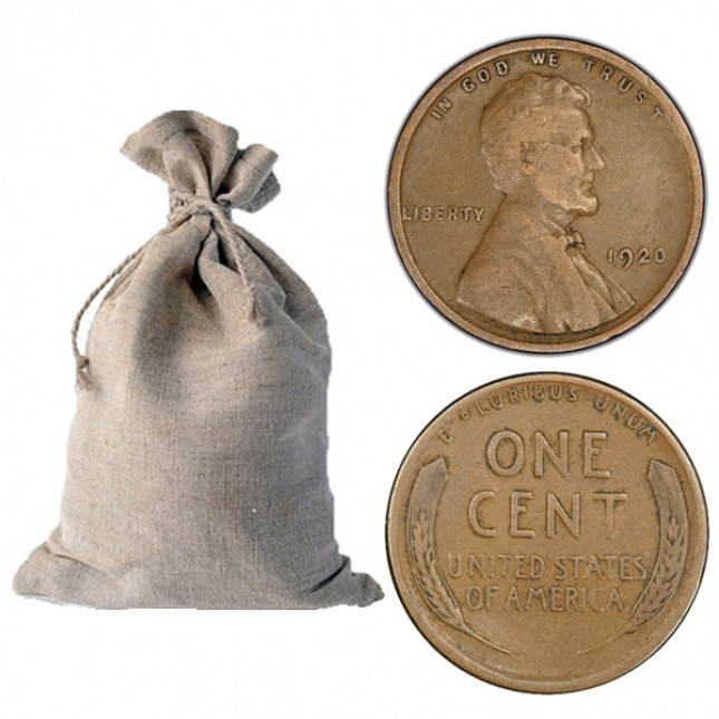1920-1929 Lincoln Wheat Cent 1,000-ct Bag
