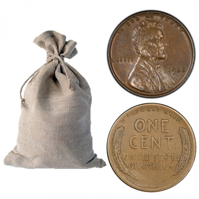 1930-1939 Lincoln Wheat Cent 5,000-ct Bag