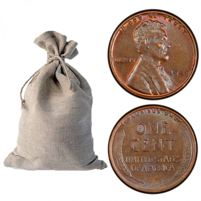 1940-1958 Lincoln Wheat Cent 5,000-ct Bag