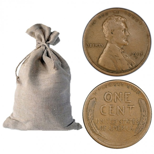 1909-1919 Lincoln Wheat Cent 1,000-ct Bag