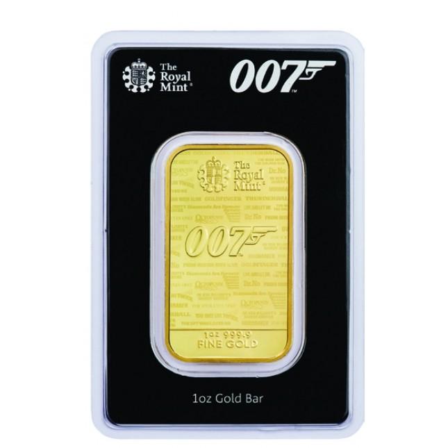 1 oz James Bond Gold Bar (New In Assay)