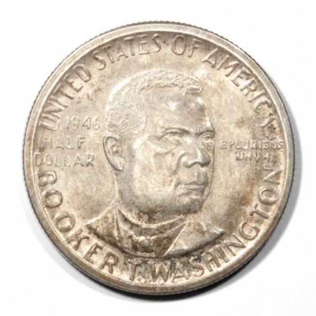 90% Silver 1946-1951 Booker T. Washington Half Dollar (Avg Circ)