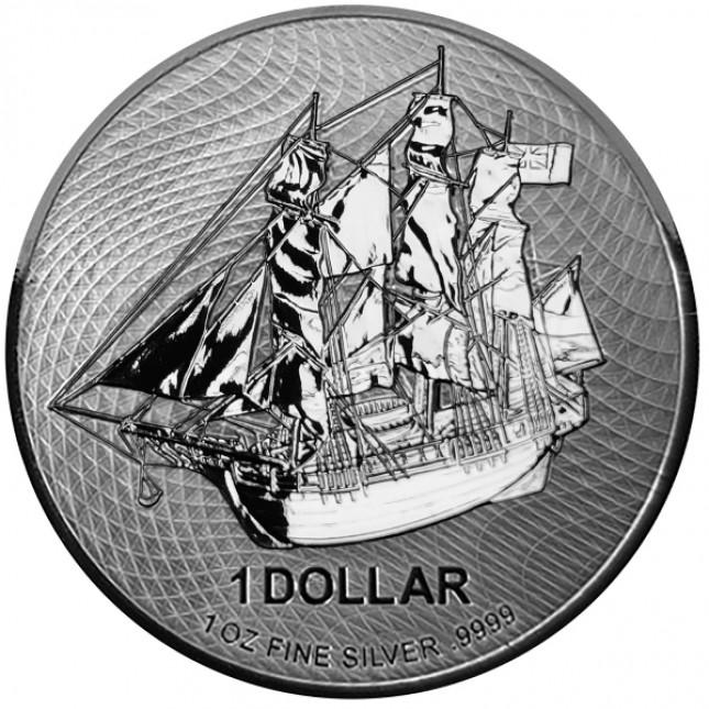 2021 Cook Islands 1 Oz Silver HMS Bounty Coin (BU)
