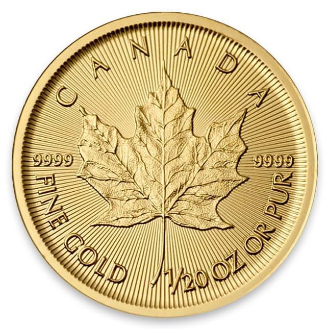 1/20 Oz Gold Maple Reverse