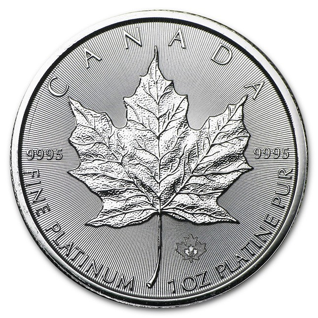 Canada 1 Oz Platinum Maple Leaf Reverse