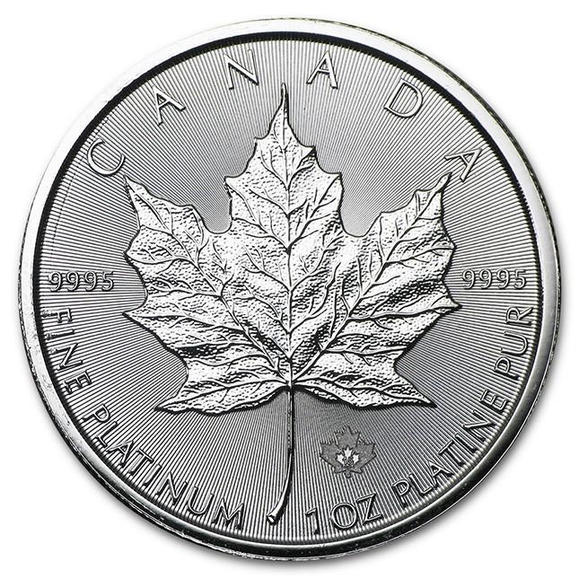 Canada 1 Oz Platinum Maple Leaf Reverse
