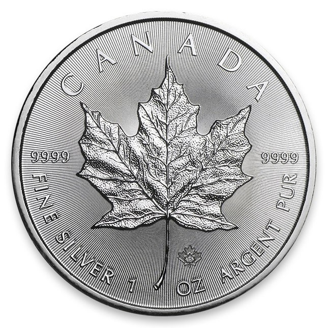 Canada Silver Maple Leaf Coin Reverse