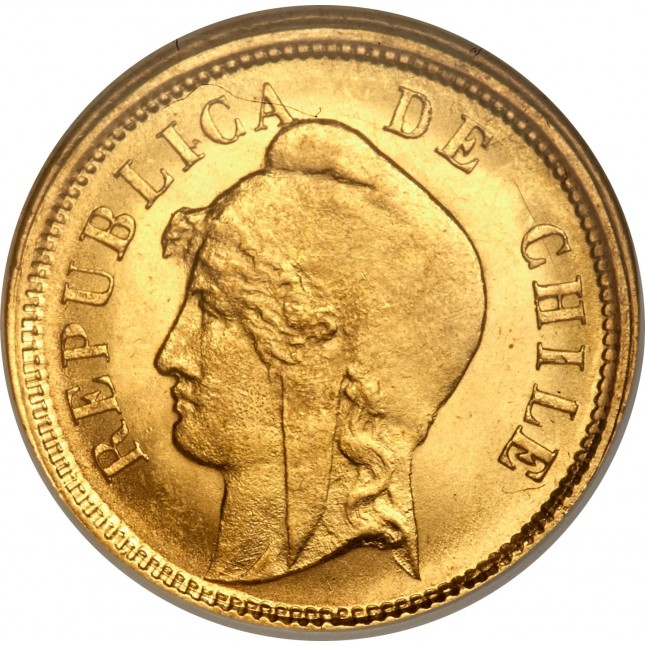 Chile Gold 10 Pesos (Avg Circ)