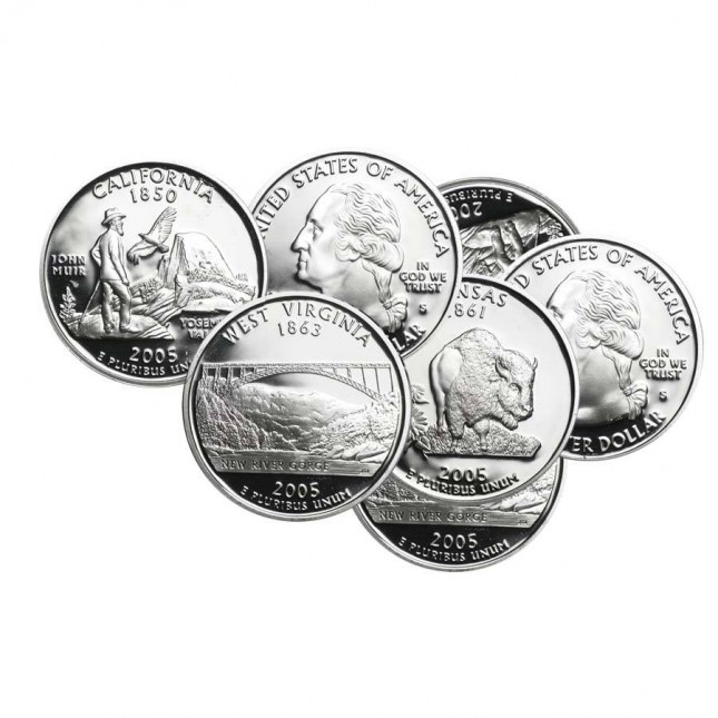 90% Silver Modern Coins - $1 Face Value Avg Circ (Dimes, Quarters or Half Dollars)