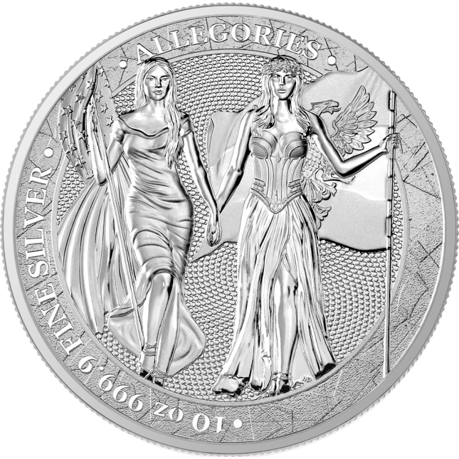 10 oz Silver Round | Columbia & Germania Allegories 2019 (BU)