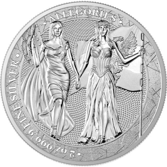 2 oz Silver Round | Columbia & Germania Allegories 2019 (BU)