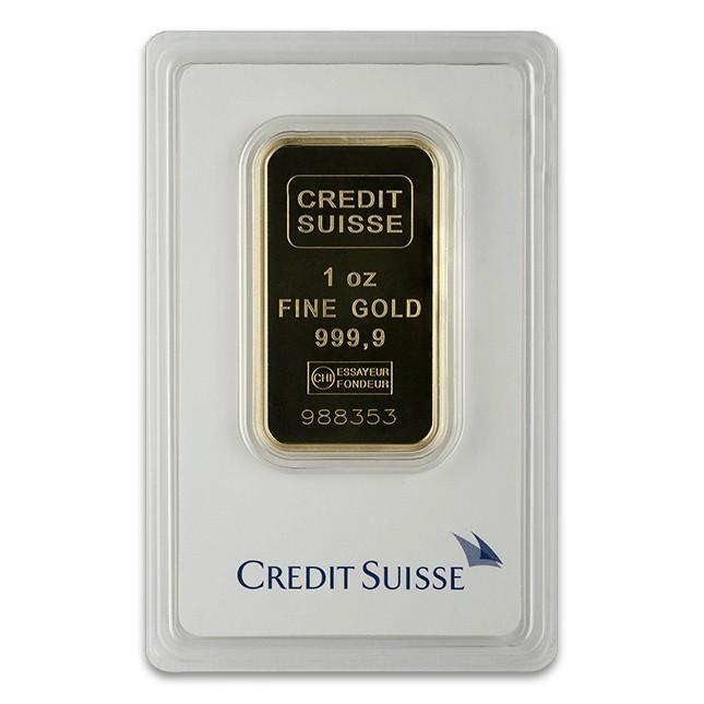 Credit Suisse 1 Oz Gold Bar (In Assay)
