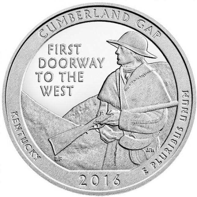2016 Cumberland Gap 5 Oz Silver ATB Coin