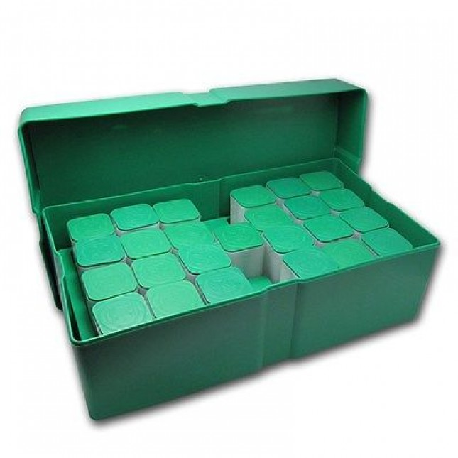 Silver Eagle Green Plastic Monster Box