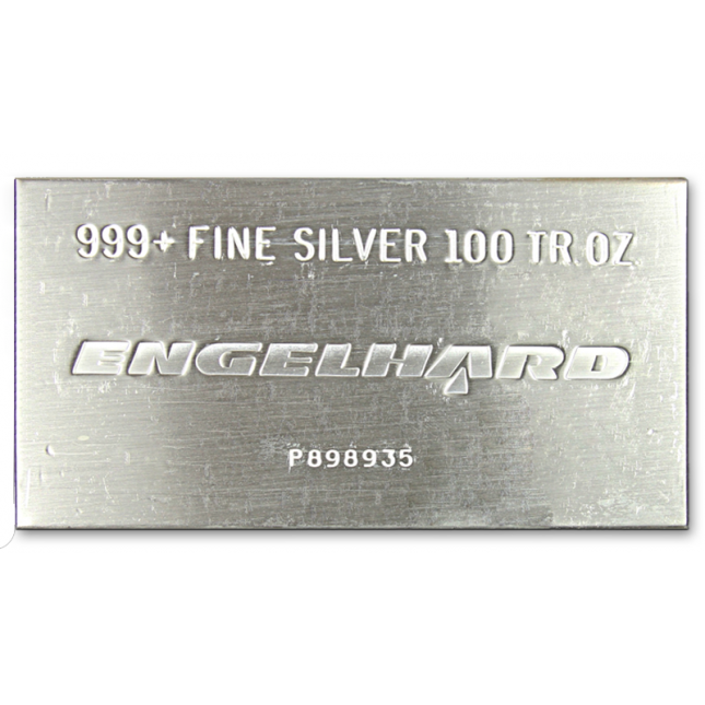 100 Oz Engelhard Silver Bar (Any Type)