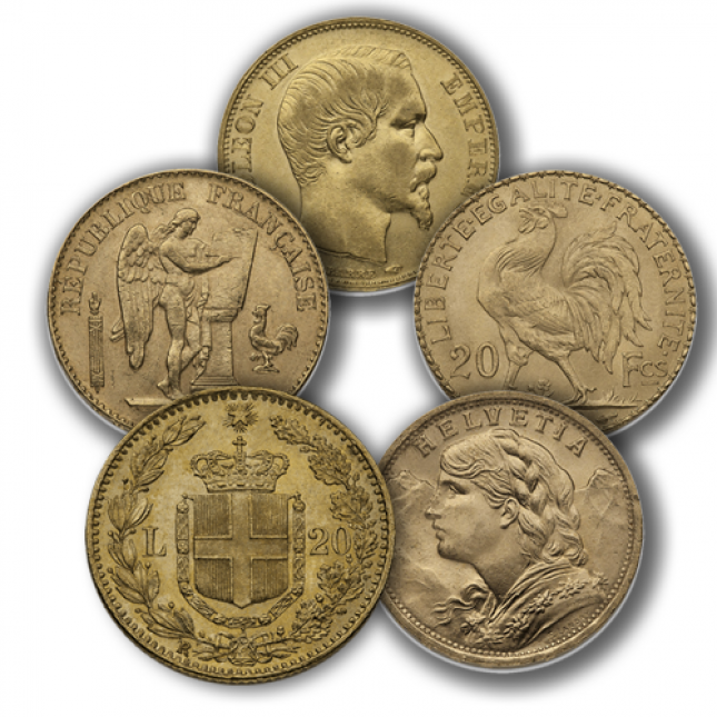 20 Franc Euro 5 Coin Bundle (Random Year)