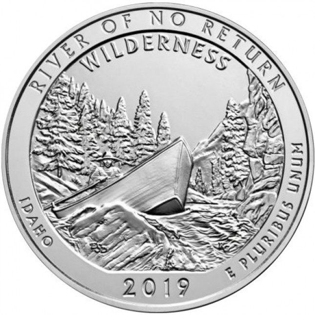 2019 5 oz Silver ATB Frank Church, Idaho BU (w/ Free Z5 Airtite Capsule 1-9 QTY)