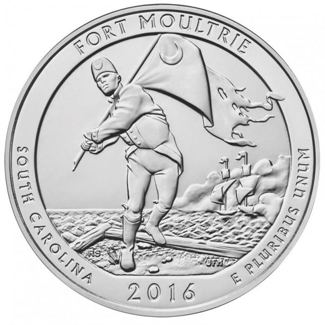 2016 Silver 5 oz ATB Fort Moultrie (BU)