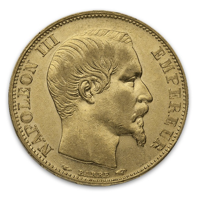 France Gold 20 Francs Napoleon III Obverse