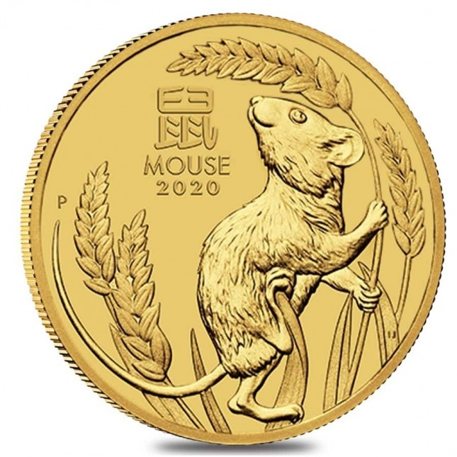 2020 Australia 1/4 oz Gold Lunar Mouse Coin (BU)