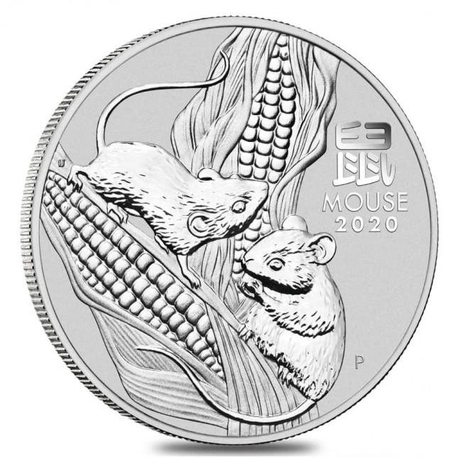 2020 Australia 2 Oz Silver Lunar Mouse Coin (BU)