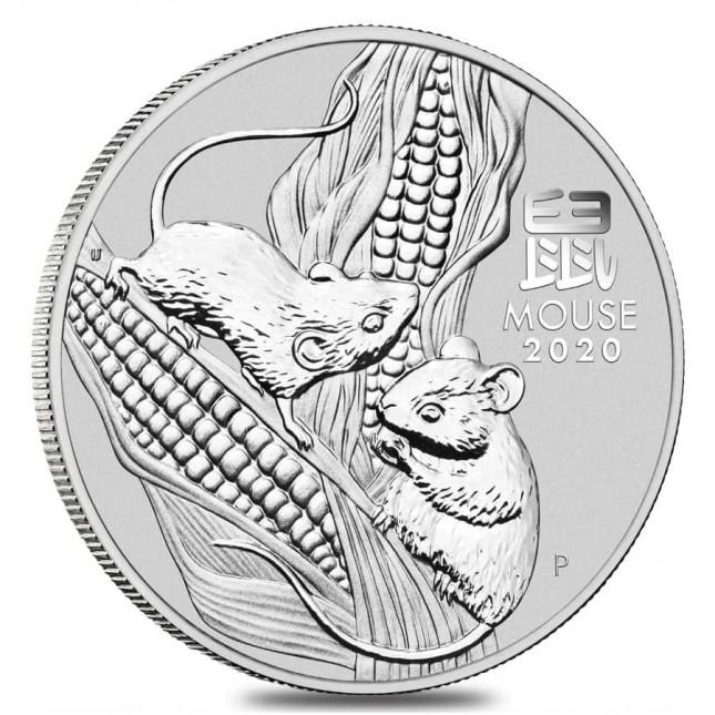 2020 Australia 5 Oz Silver Lunar Mouse Coin (BU)