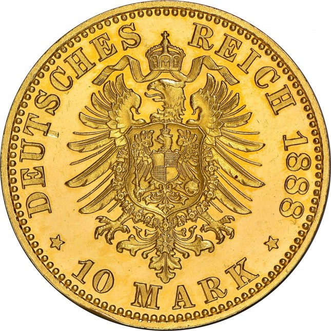 German Gold 10 Mark (Random Year)