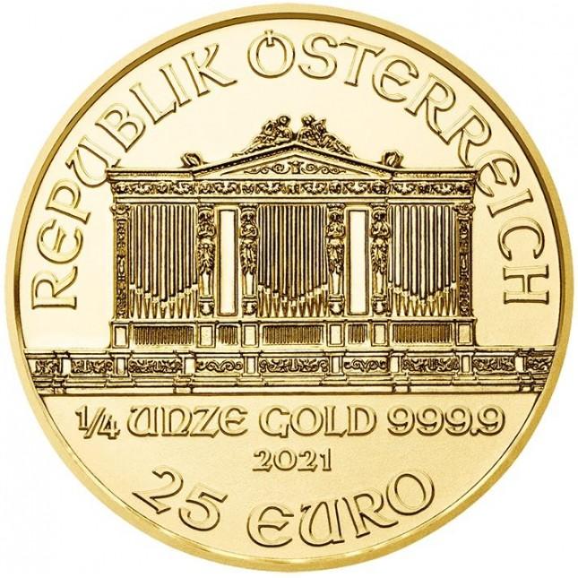 2021 Austria 1/4 Oz Gold Philharmonic