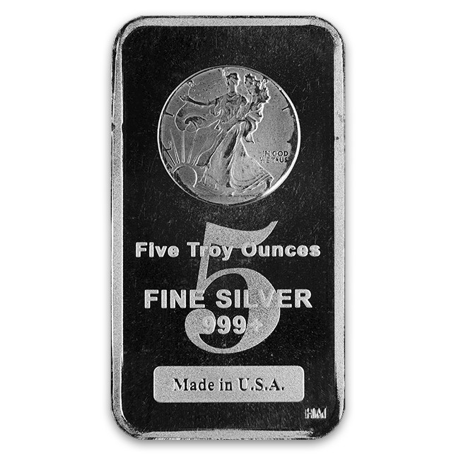 Buy Highland Mint (HM) 5 Oz Walking Liberty Silver Bar Front