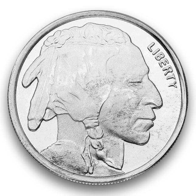 Highland Mint (HM) 1/10 Oz Buffalo Silver Round