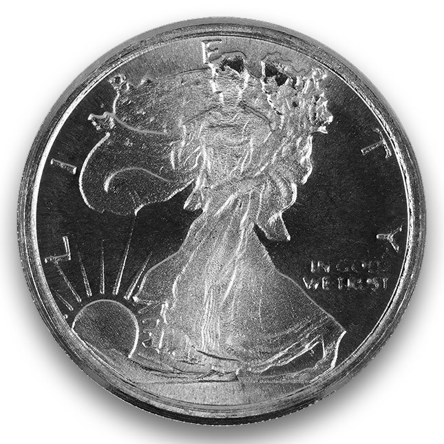 Highland Mint (HM) 1/10 Oz Walking Liberty Silver Round