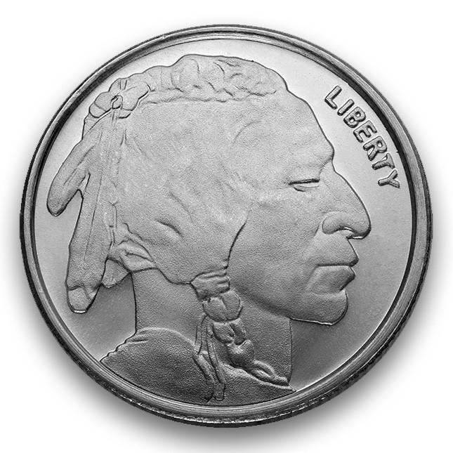 Highland Mint (HM) 1/4 Oz Buffalo Silver Round