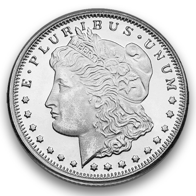 Highland Mint (HM) 1/4 Oz Morgan Design Silver Round