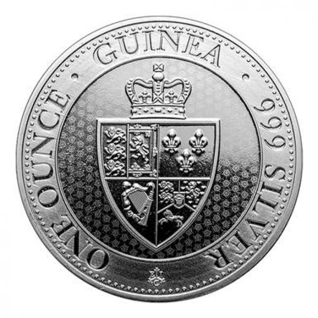 2019 Saint Helena 1 oz Silver £1 Spade Guinea Shield (BU)