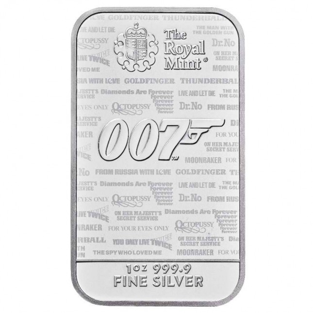 10 oz James Bond Silver Bar (New)