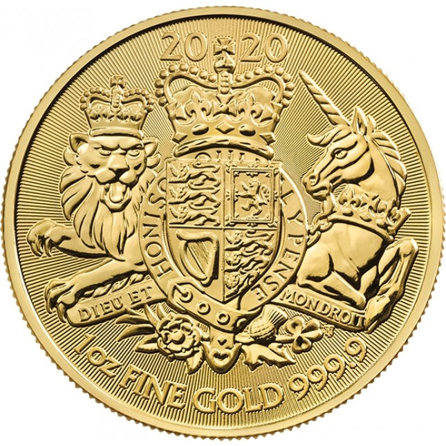 2020 Great Britain 1 oz Gold The Royal Arms (BU)