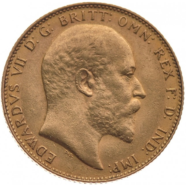 Great Britain King Edward Gold Sovereign 1902-1910 (Random Date)