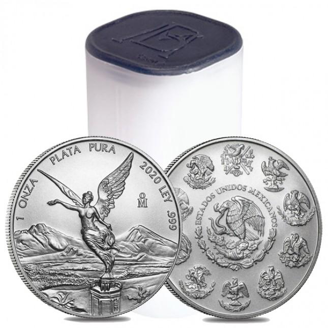 2020 1 Oz Mexican Silver Libertad Coin (BU) - Roll/Tube of 25 Coins
