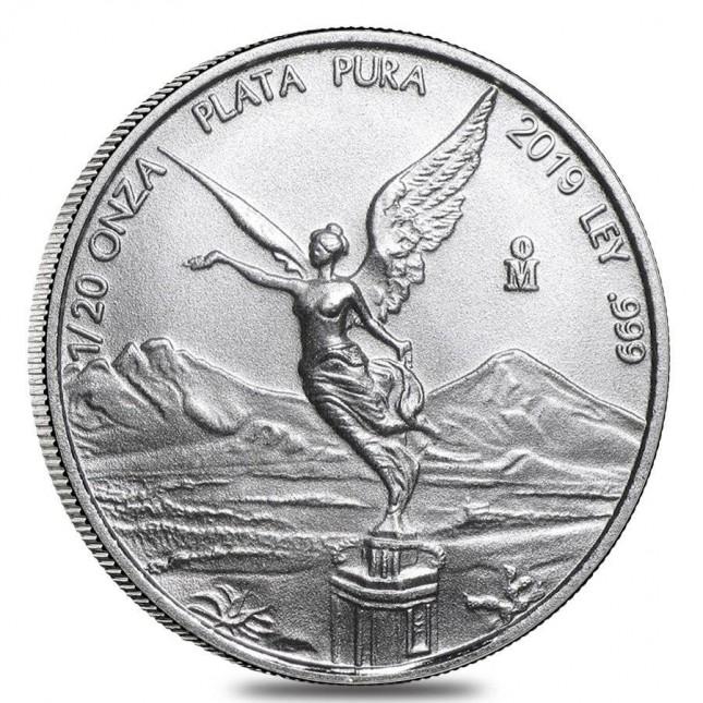 2019 1/20 Oz Mexican Silver Libertad Coin (BU)