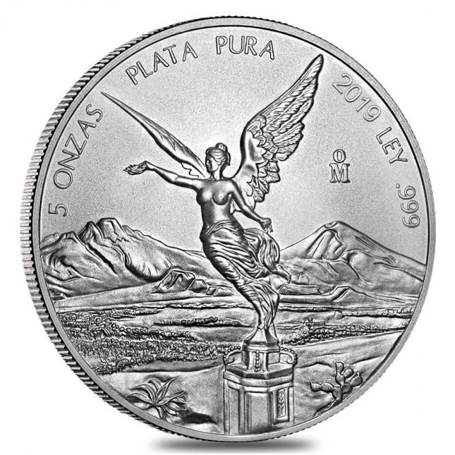 2019 5 Oz Mexican Silver Libertad Coin (BU)