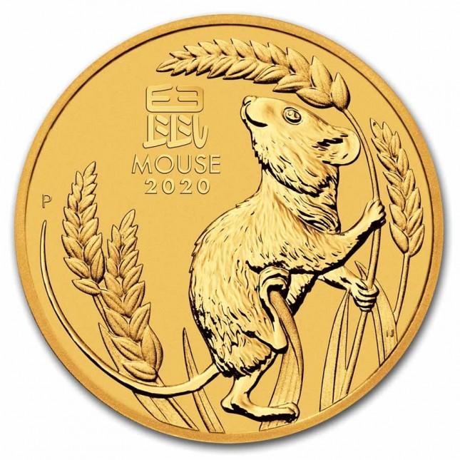 2020 Australia 2 oz Gold Lunar Mouse Coin (BU)