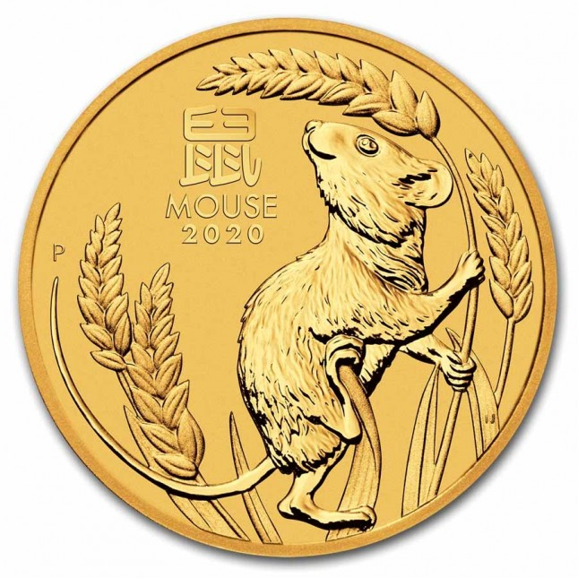 2020 Australia 1/20 oz Gold Lunar Mouse Coin (BU)