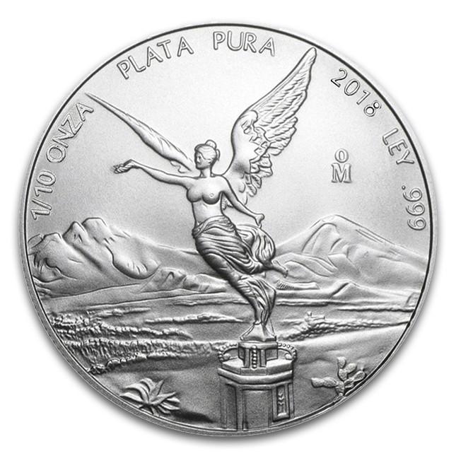 2018 1/10 Oz Mexican Silver Libertad Coin (BU)