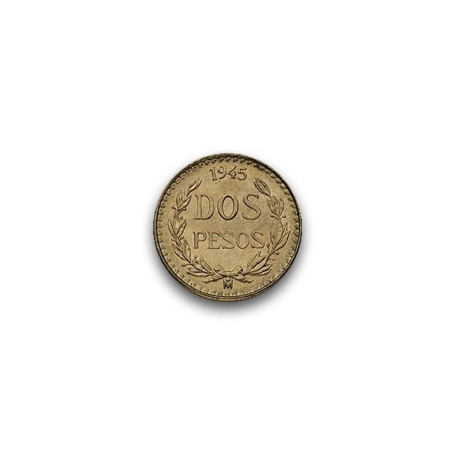 Mexico Gold 2 Pesos (Random Year)